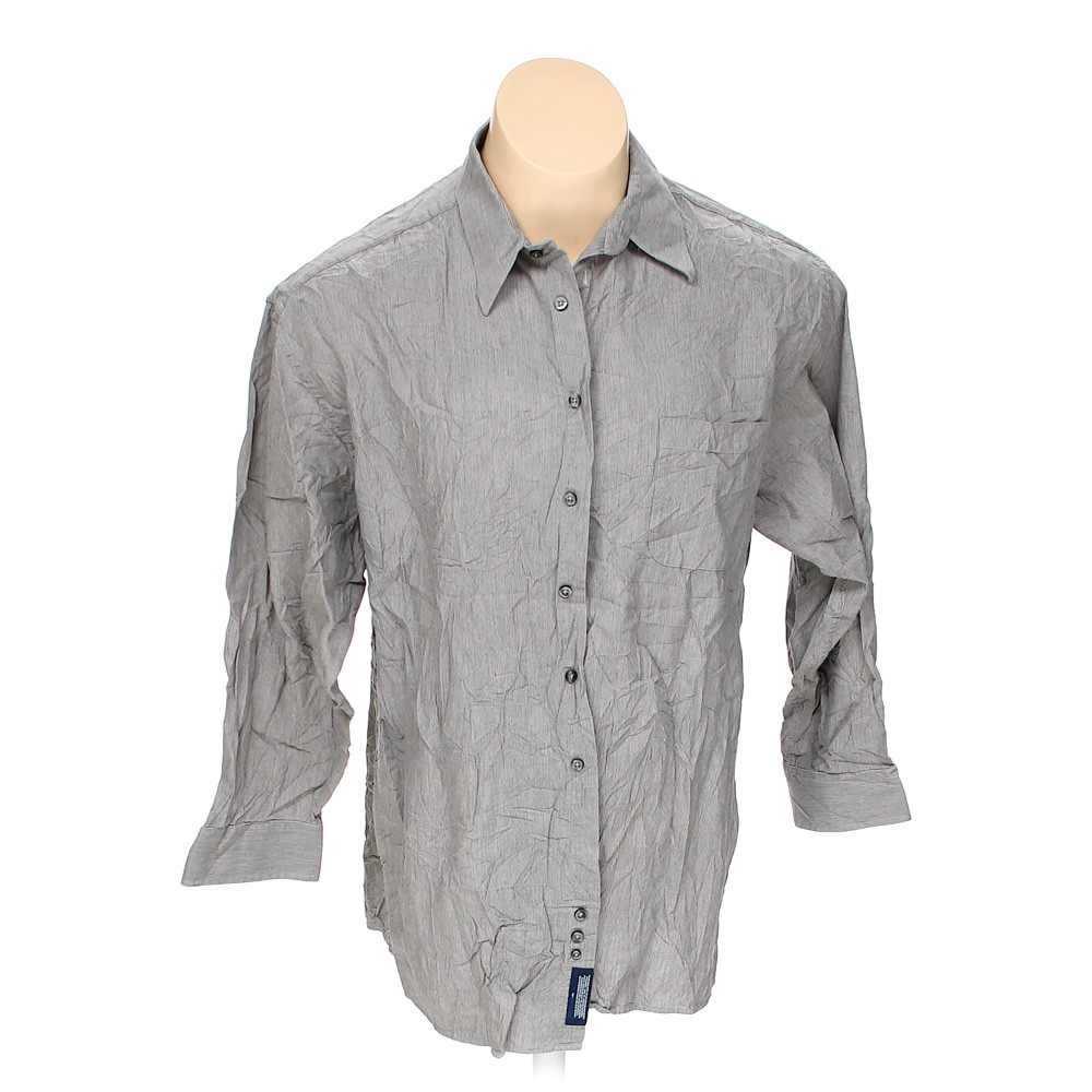 Stafford Button Up Long Sleeve Shirt Size 42 Chest Grey