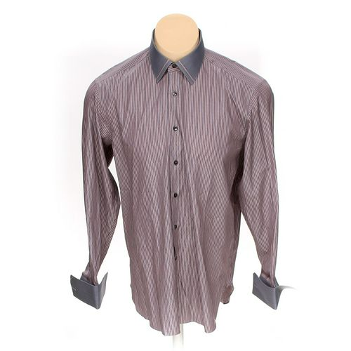 """Stefano Button-up Long Sleeve Shirt in size 42"""" Chest at up to 95% Off - Swap.com"""