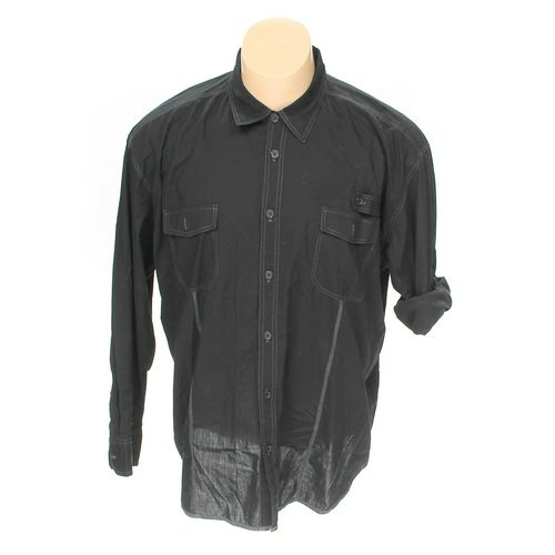 Straight Faded Button-up Long Sleeve Shirt in size 4XL at up to 95% Off - Swap.com