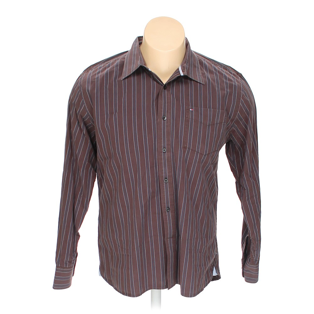 03fc0d76 Tommy Hilfiger Striped Cotton Button-up Long Sleeve Shirt, Size 50 ...