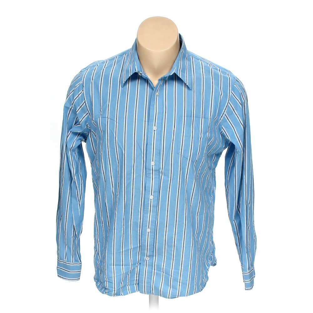 23461627 Urban Pipeline Striped Cotton Button-up Long Sleeve Shirt, Size XXL ...