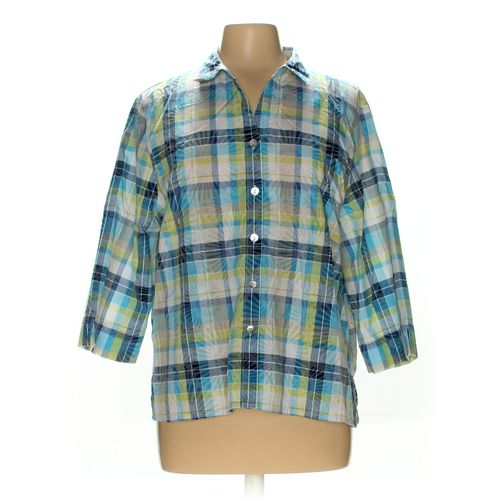 Alfred Dunner Button-up Shirt in size L at up to 95% Off - Swap.com