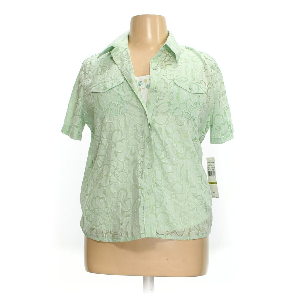 fa3608e8aa6 Alfred Dunner Button-up Shirt in size 14 at up to 95% Off - Swap.com