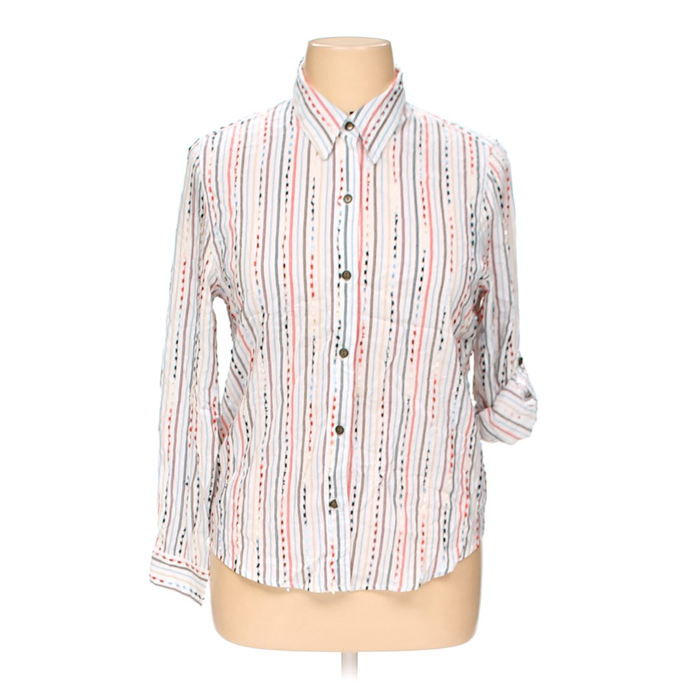 7cc38950072 Alfred Dunner Button-up Shirt in size 14 at up to 95% Off -