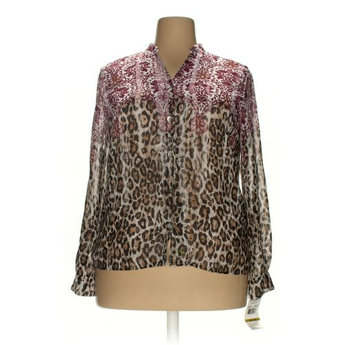 Alfred Dunner Button-up Shirt in size 14 at up to 95% Off - Swap.com