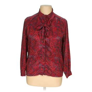 85ca90c4cab Maroon Alfred Dunner Button-up Shirt in size 14 at up to 95% Off - Swap.com.