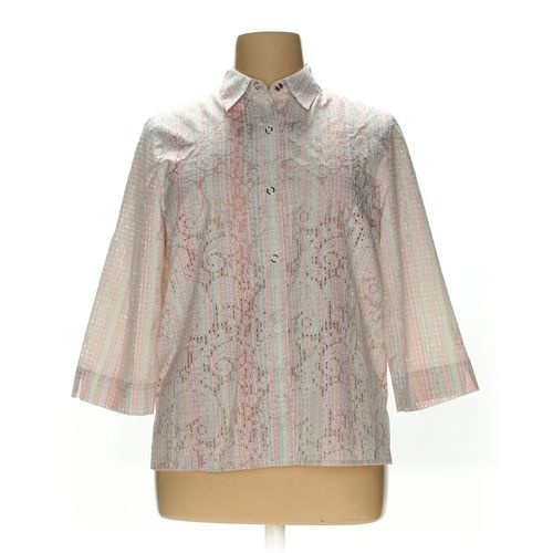 Alfred Dunner Button-up Shirt in size 16 at up to 95% Off - Swap.com