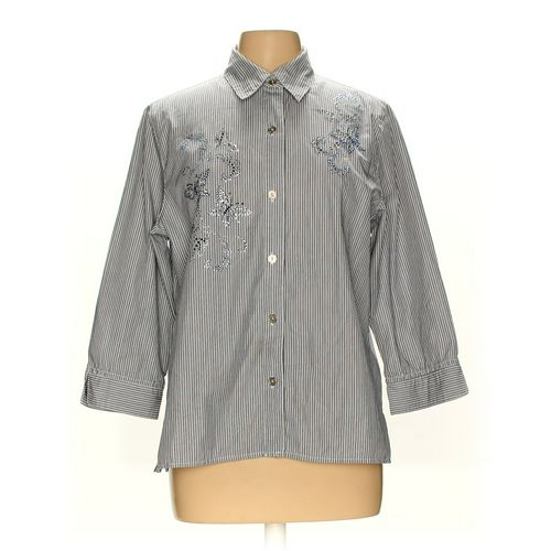Alfred Dunner Button-up Shirt in size 12 at up to 95% Off - Swap.com