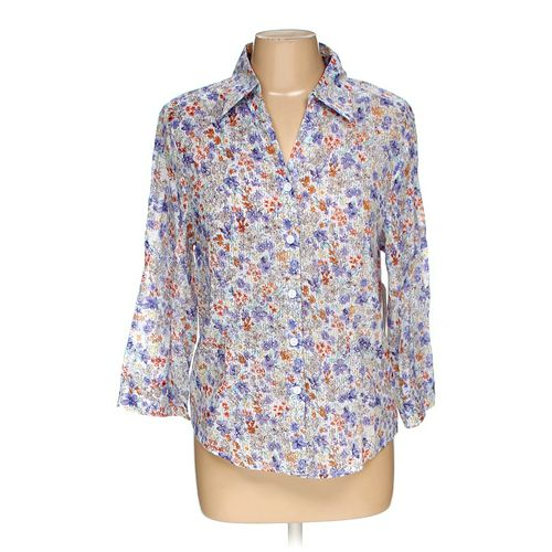 Alfred Dunner Button-up Shirt in size 8 at up to 95% Off - Swap.com