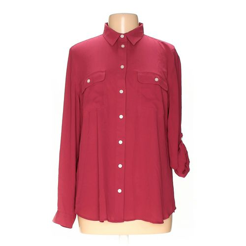 Ann Taylor Loft Button-up Shirt in size L at up to 95% Off - Swap.com