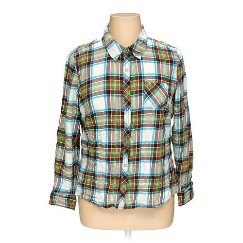 Arizona Button-up Shirt in size 1X at up to 95% Off - Swap.com
