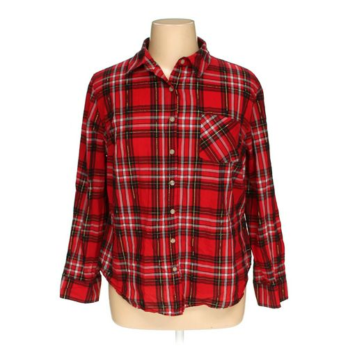 Ava & Viv Button-up Shirt in size 1X at up to 95% Off - Swap.com