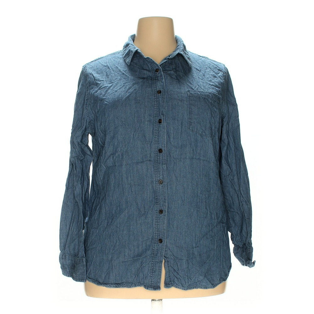 169096aaf52 Ava   Viv Button-up Shirt in size 1X at up to 95% Off