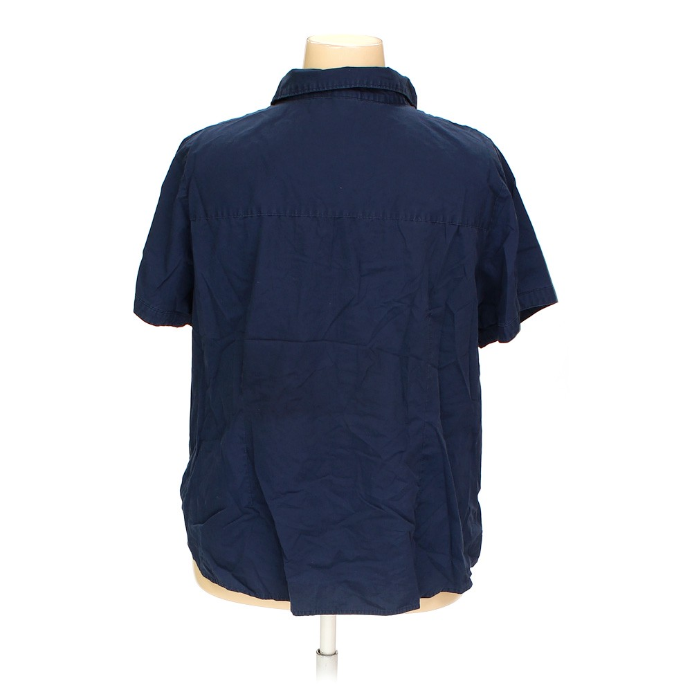 Blue navy basic editions button up shirt in size 3x at up for 3x shirts on sale