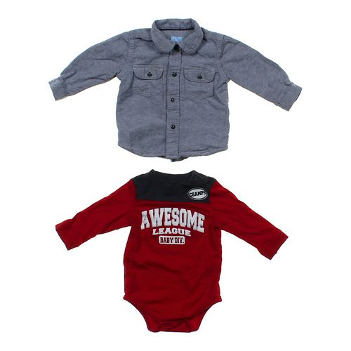 The Children's Place Button-up Shirt & Bundler Set in size 6 mo at up to 95% Off - Swap.com