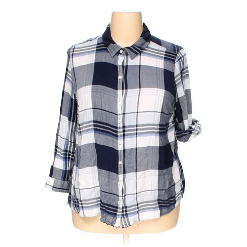 Catherines Button-up Shirt in size 1X at up to 95% Off - Swap.com