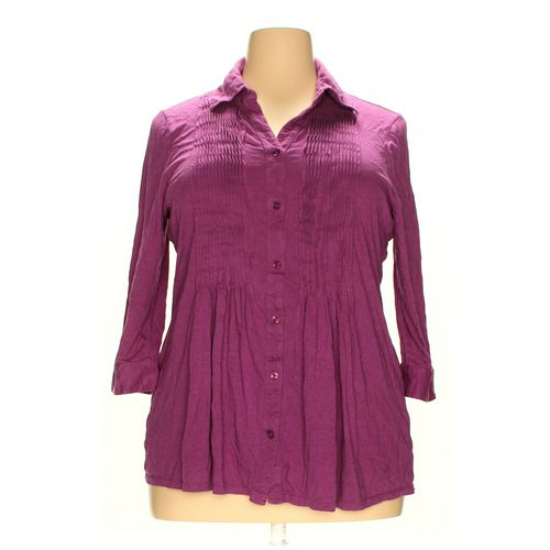 Charter Club Woman Button-up Shirt in size 3X at up to 95% Off - Swap.com