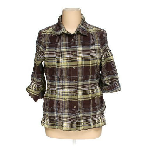 CJ Banks Button-up Shirt in size 1X at up to 95% Off - Swap.com