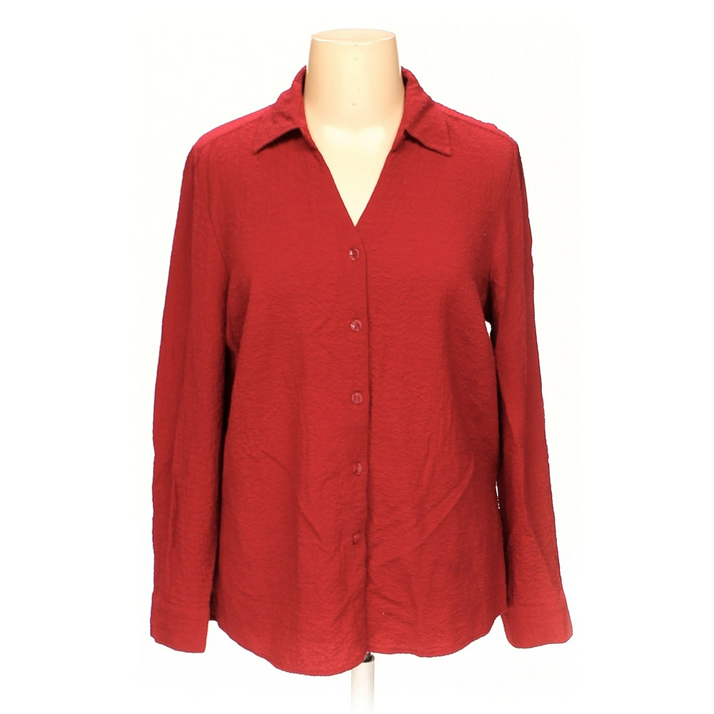 2841008f3e8 CJ Banks Button-up Shirt in size 1X at up to 95% Off -