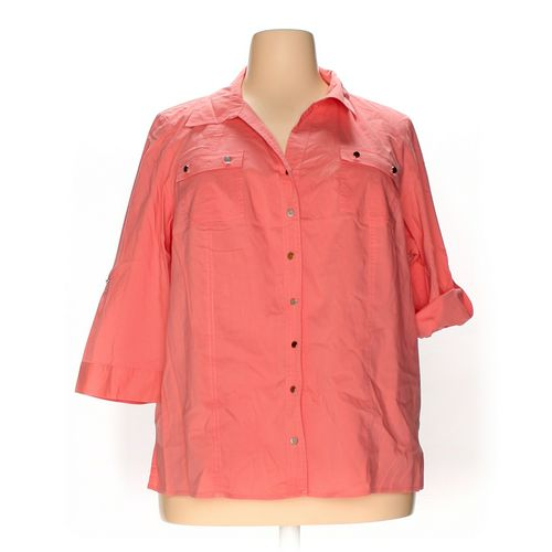 CJ Banks Button-up Shirt in size 2X at up to 95% Off - Swap.com