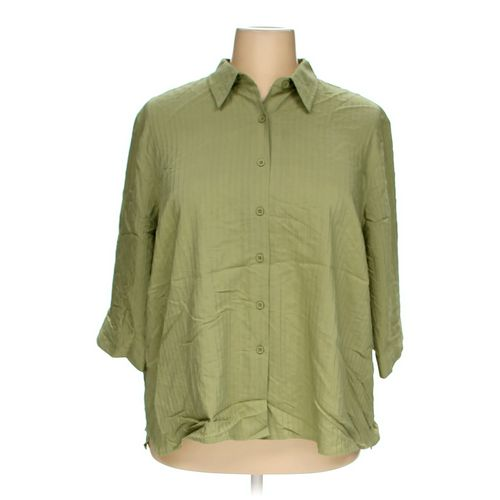 CJ Banks Button-up Shirt in size 3X at up to 95% Off - Swap.com