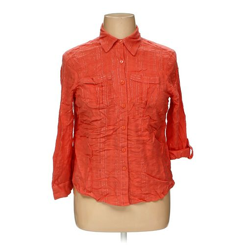 CJ Banks Button-up Shirt in size XL at up to 95% Off - Swap.com