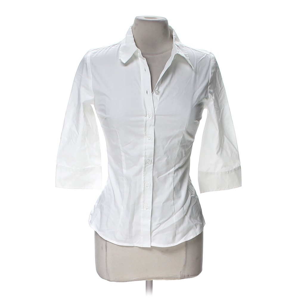 Cotton express button up shirt in size m at up to 95 off for Cotton button up shirt