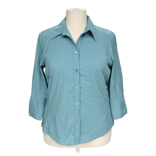 Dressbarn button up shirt online consignment for Polyester button up shirt