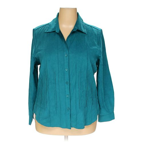 dressbarn Button-up Shirt in size 18 at up to 95% Off - Swap.com