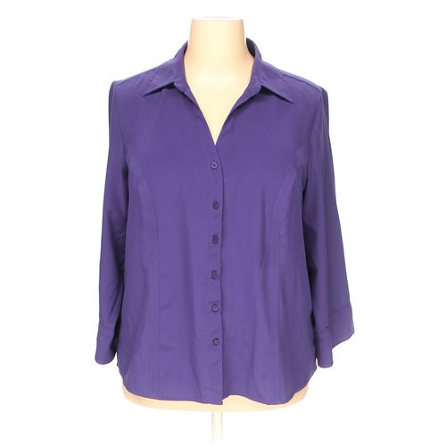 dressbarn Button-up Shirt in size 2X at up to 95% Off - Swap.com