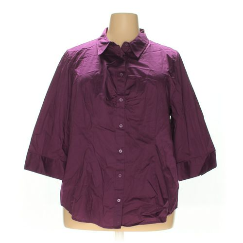 Fashion Bug Button-up Shirt in size 2X at up to 95% Off - Swap.com