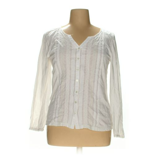 Gloria Vanderbilt Button-up Shirt in size L at up to 95% Off - Swap.com