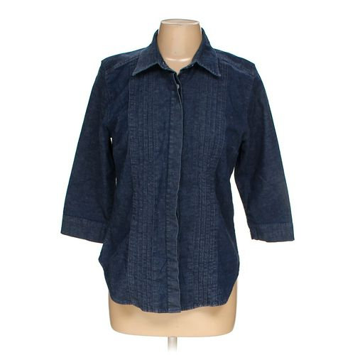 Gloria Vanderbilt Button-up Shirt in size M at up to 95% Off - Swap.com