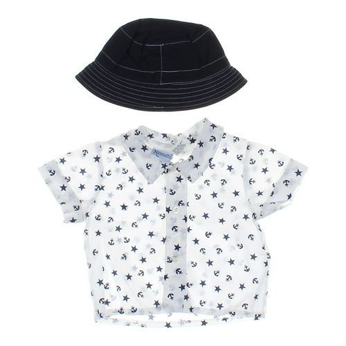 Nannette Button-up Shirt & Hat in size 3 mo at up to 95% Off - Swap.com