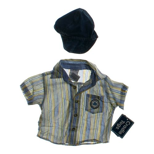 Cradle Togs Button-up Shirt & Hat Set in size 3 mo at up to 95% Off - Swap.com