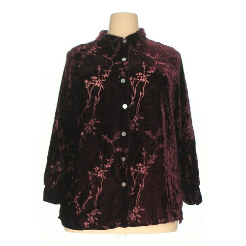 Jaclyn Smith Button-up Shirt in size 1X at up to 95% Off - Swap.com