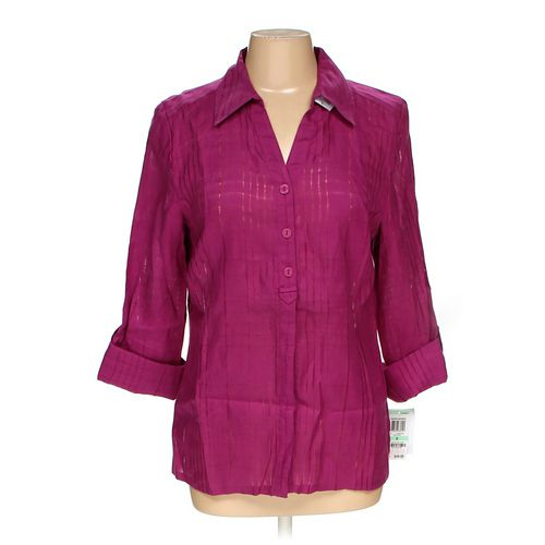 JM Collection Button-up Shirt in size 8 at up to 95% Off - Swap.com