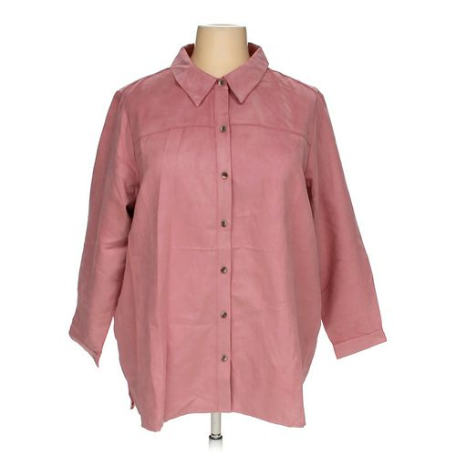 Joan Rivers Classics Collection Button-up Shirt in size 2X at up to 95% Off - Swap.com