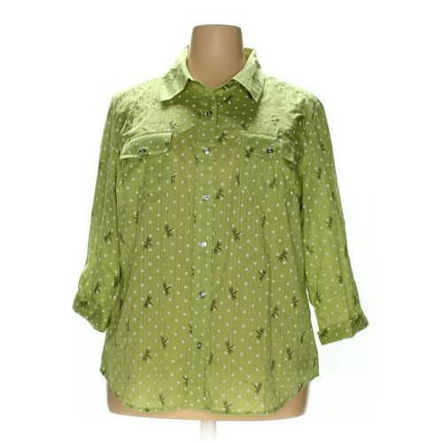 Karen Scott Button-up Shirt in size 2X at up to 95% Off - Swap.com