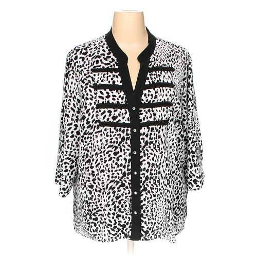 Kathie Lee Button-up Shirt in size 22 at up to 95% Off - Swap.com