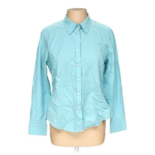 Lands' End Button-up Shirt in size 14 at up to 95% Off - Swap.com