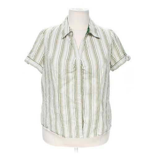 Lane Bryant Button-up Shirt in size 22 at up to 95% Off - Swap.com