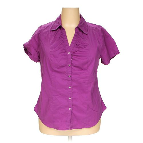 Lane Bryant Button-up Shirt in size 18 at up to 95% Off - Swap.com