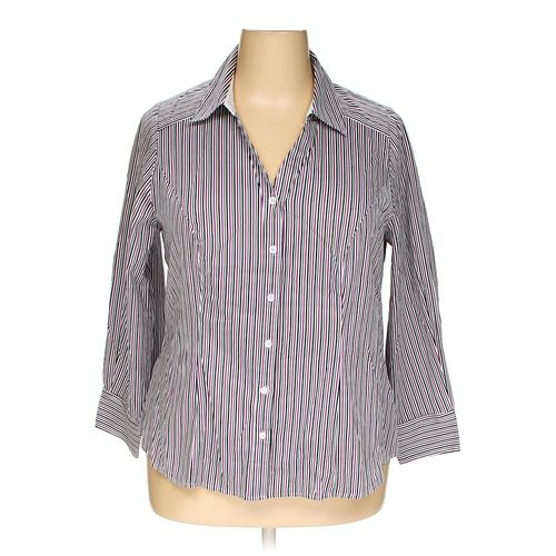 Lane Bryant Button-up Shirt in size 20 at up to 95% Off - Swap.com