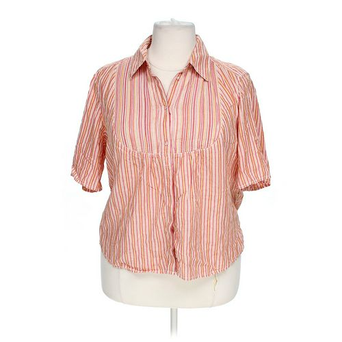 Liz Claiborne Button-up Shirt in size 2X at up to 95% Off - Swap.com