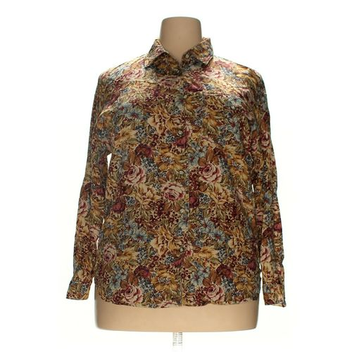 Lizwear by Liz Claiborne Button-up Shirt in size 2X at up to 95% Off - Swap.com