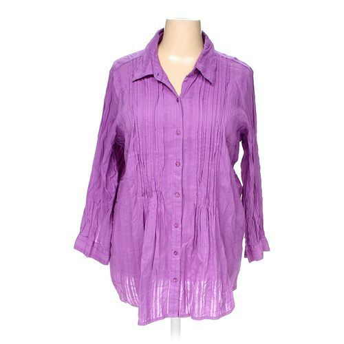 Main Street Blues Button-up Shirt in size 2X at up to 95% Off - Swap.com