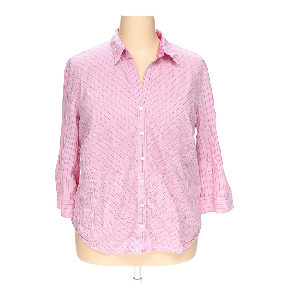 Pink Old Navy Button Up Shirt In Size 3x At Up To 95 Off