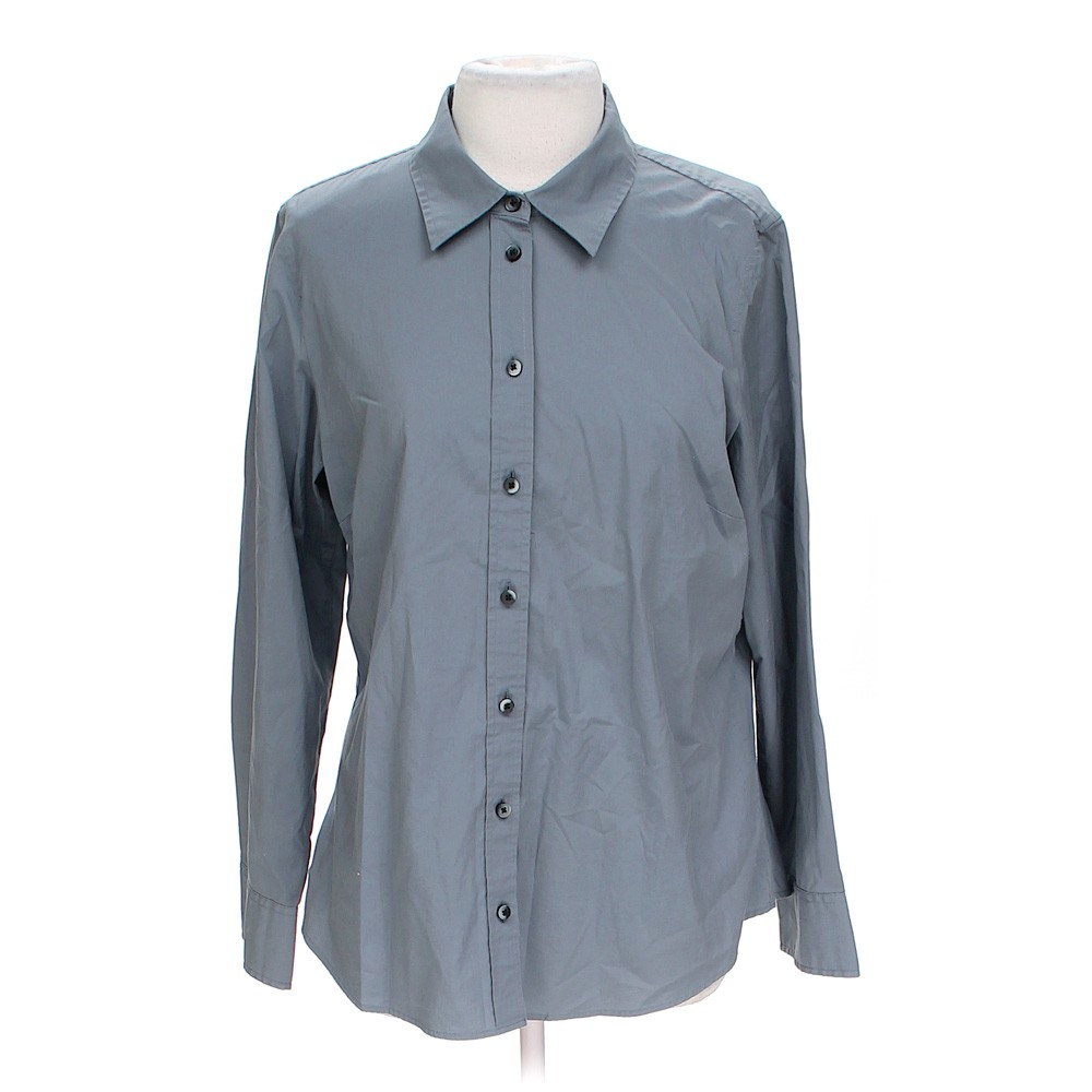 Grey Old Navy Button Up Shirt In Size Xl At Up To 95 Off