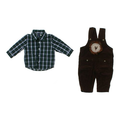 Jonathan Strong Button-up Shirt & Overalls Set in size 6 mo at up to 95% Off - Swap.com